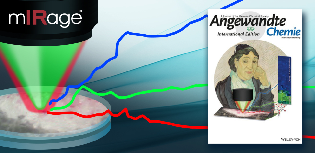 Illustration demonstrating the mIRage analyzing live cells in water